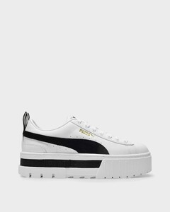 Mayze Sneakers in White and Black Leather