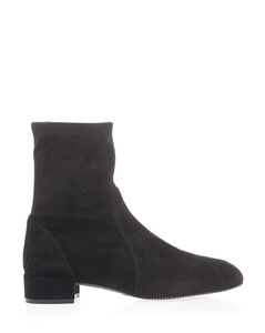 Suede ankle boots in black