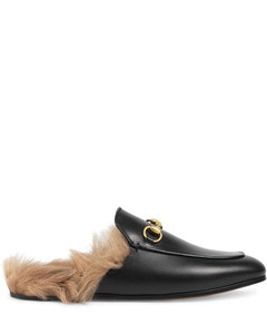 WOMEN'S 397749DKHH01063 BLACK LEATHER LOAFERS