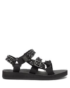 Trekky Trio Chain recycled-nylon sandals