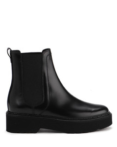 Smooth leather ankle boots