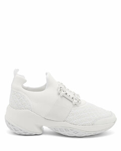Viv Run crystal-embellished buckled trainers
