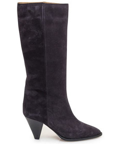 Light blue printed leather Shawn sandals