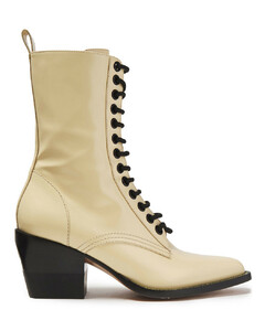 ChloéWoman Rylee Glossed-leather Ankle Boots