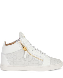 Kriss crocodile-effect leather sneakers