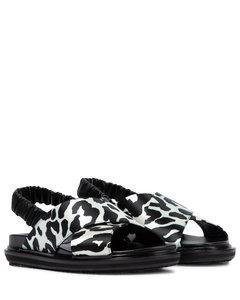 Fussbett leopard-print sandals