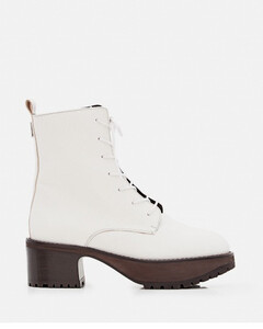 COBAIN GRAINED LEATHER COMBAT BOOTS