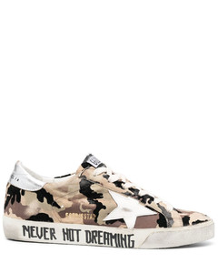 Brown shearling-trimmed suede mules