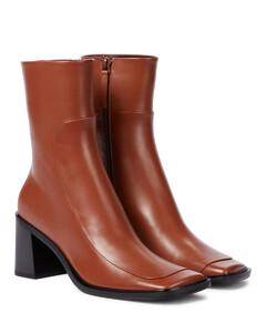 Patch皮革及踝靴