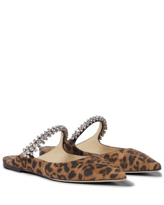 Bing豹纹印花绒面革便鞋