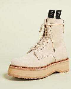 Single Stack绒面革靴子