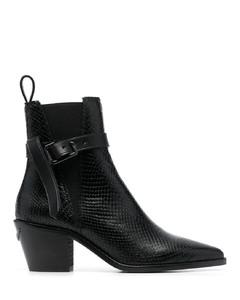 漆皮防水台及踝靴