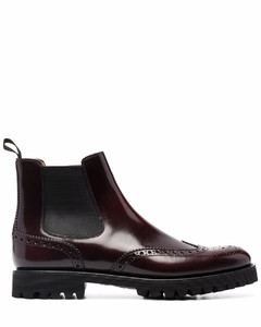 Leather beatles ankle boots