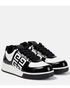 Rp20f2890ldep91 Women's Black Leather Hi Top Sneakers