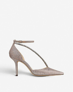 Talika 85 metallic suede and crystal courts