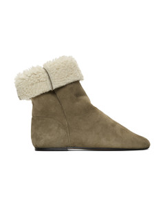 灰褐色Rullee剪羊毛踝靴