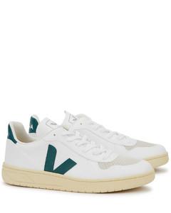 V-10 Bastille white leather sneakers