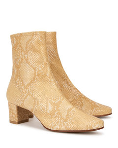 Sophia 50 python-effect leather ankle boots
