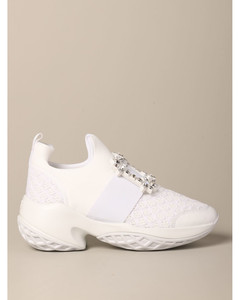 Viv Run sneakers in leather and mesh with buckle