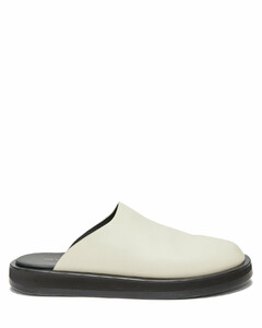 Sabot backless leather loafers