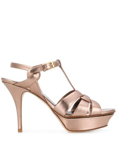 High-Top Sneakers PETER smooth leather Embossing grey
