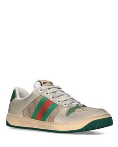 Leather Distressed Screener Sneakers