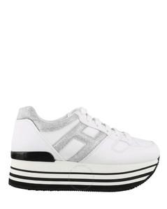 Ladies H283 Platform Leather Sneakers