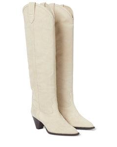 Lihana绒面革及膝靴