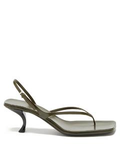Constance mid-heel leather sandals