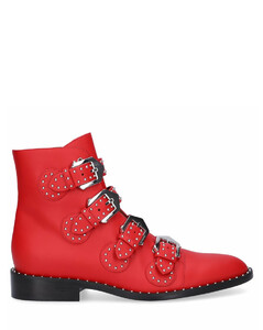 Ankle Boots Red BE08143