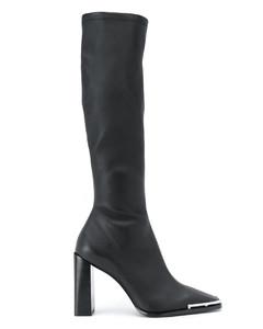metallic trim boots