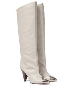 Lelize皮革及膝靴