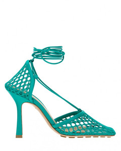 Adidas By Stella Mccartney Woman Metallic-trimmed Mesh And Stretch-knit Sneakers