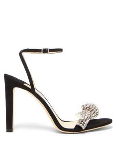 Thyra 100 crystal-embellished suede sandals