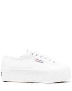 Platformed Laced-up Sneakers