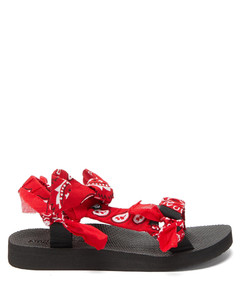 Trekky Choux bandana-trimmed sandals