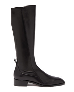 Tagastretch leather knee-high boots