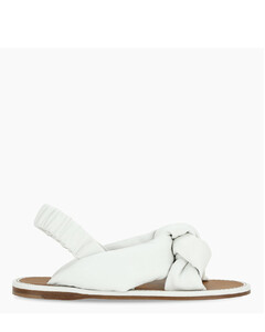 White knotted sandals