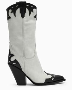 Brown boots with crocodile print
