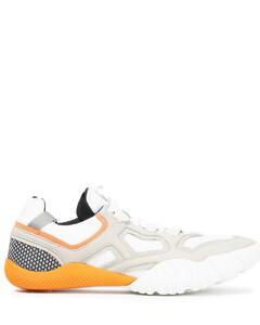 Woman Mesh And Faux Suede Sneakers