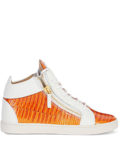 Kriss snakeskin-effect leather sneakers