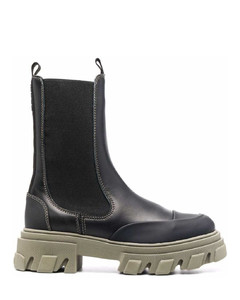 Mid Calf Chelsea Ankle Boots