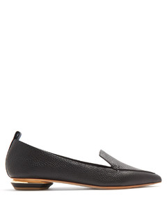 Beya point-toe grained-leather loafers