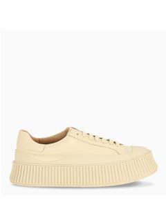 Cream high sole sneakers