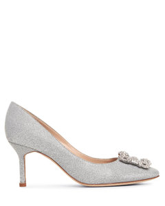 Hangisi 70 silver glitter pumps