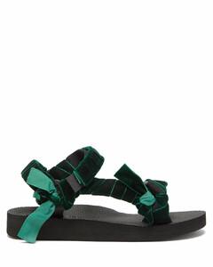 Trekky velvet-strap sandals