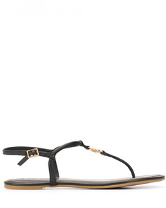 Emmy Leather Flat Sandals