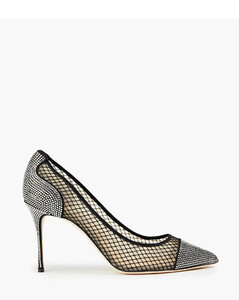Polyester Knit Sneakers In White