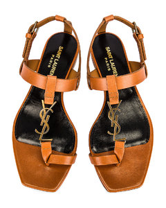 Cassandra Flat Sandals in Beige