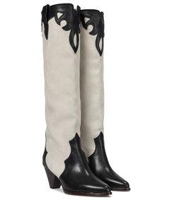 Litz皮革及膝靴